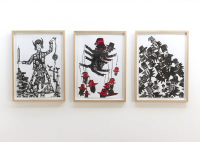 Hamid El Kanbouhi, 2013, Choros, Het Draait and Bam Man, 50x70 (3x)